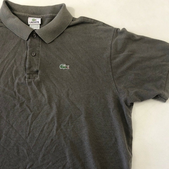 3023ec74 Lacoste Shirts | Men Polo Shirt Collare Solid Gray Croc Xxl | Poshmark